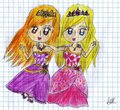 Barbie Princess Charm School Blair and Delancy Fan Art