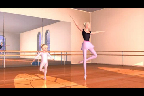 Barbie in the Nutcracker achtergrond entitled Barbie and Kelly - Beginning Dance Prologue