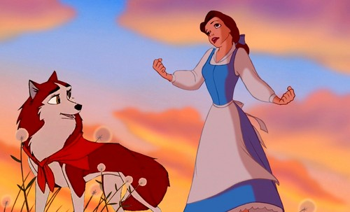 disney crossover fondo de pantalla with anime called Belle and Jenna