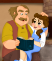 Belle and Maurice - disney-princess fan art