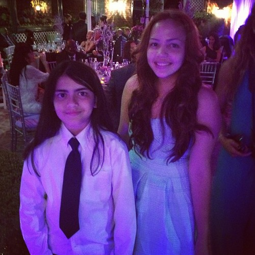 Blanket Jackson at the wedding of Taj Jackson