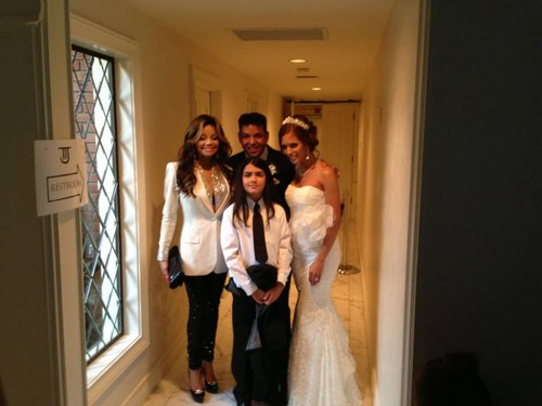Blanket at the wedding of Taj Jackson