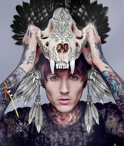 Bring Me The Horizon karatasi la kupamba ukuta entitled Bring Me The Horizon