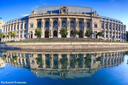 Bucharest Romania - Ministry of Justice - capital city architecture