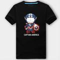Captain America doraemon logo new style t kemeja