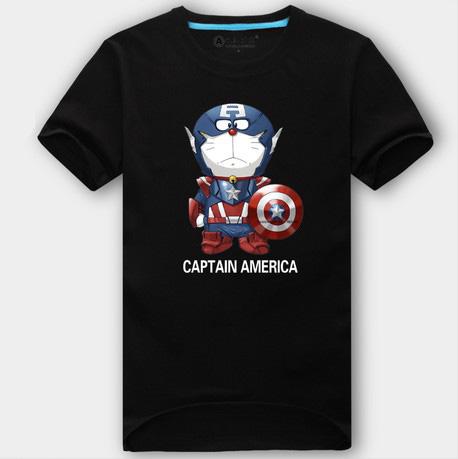 Captain America Đôrêmon logo new style t áo sơ mi
