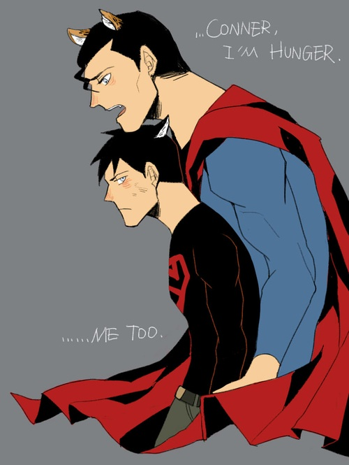 Cat Супермен and Cat Superboy