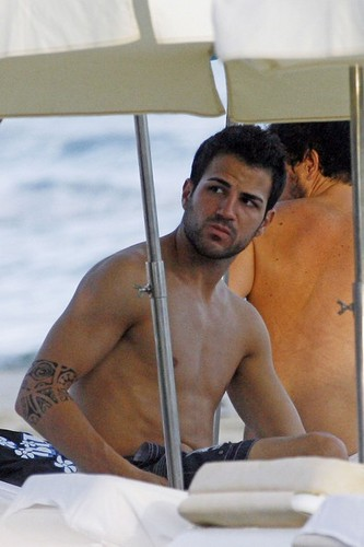Cesc Fabregas wallpaper possibly containing a hunk and skin entitled Cesc _^^_
