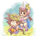 Chichi x Goku ~ Flowers - dragon-ball-females fan art