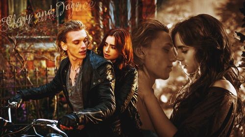 Mortal Instruments wallpaper with a street titled Clary and Jace wallpapers
