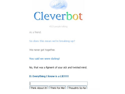 Cleverbot uses a Kowalski quote.