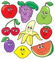 Cute and Colorful Fruits in Cartoon - colors photo