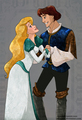 Derek and Odettte - swan-princess fan art
