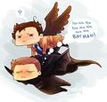 Destiel - supernatural fan art