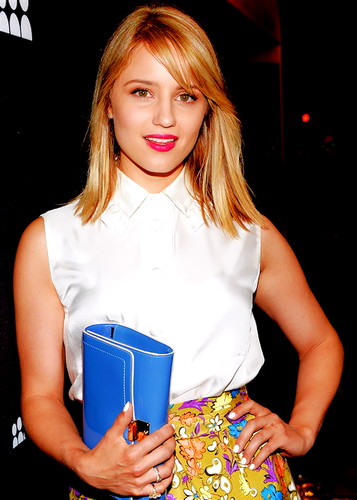 Dianna Agron at the MySpace Launch Party with re-died Blonde hair