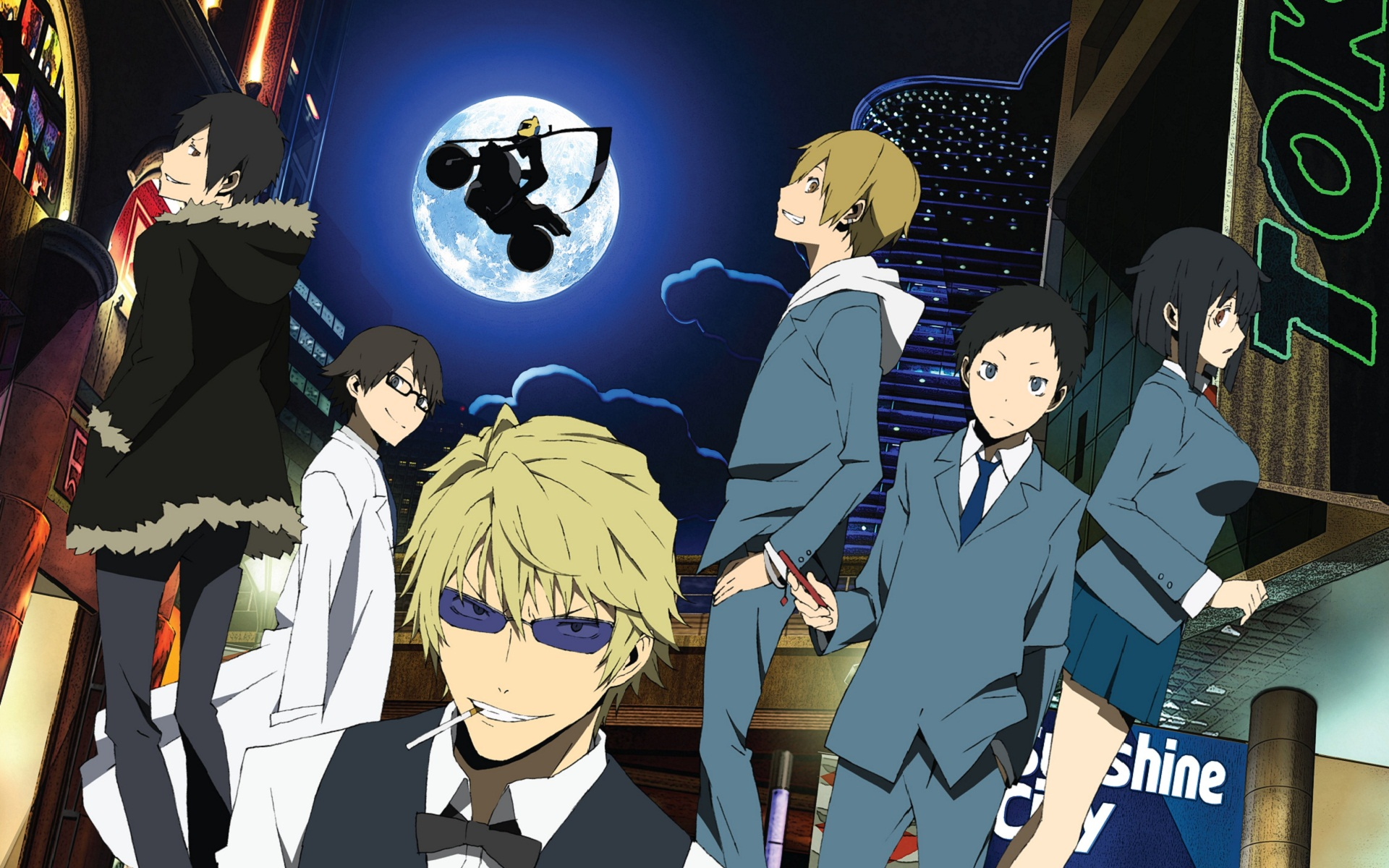 Risultati immagini per durarara anime first season wallpaper
