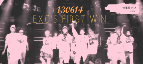 EXO's first win
