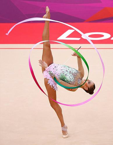 Evgenia Kanaeva London ribbon