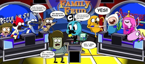 Adventure Time With Finn and Jake wolpeyper with anime called Family Feud Cartoon Network