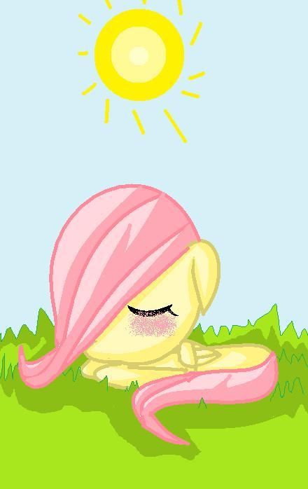 Filly Fluttershy Sleeping
