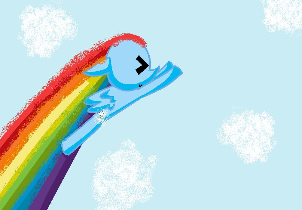 Filly RainbowDash Sonic Rainboom - Rainbow Dash Photo ...