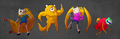 FnJ's different suits - adventure-time-with-finn-and-jake photo