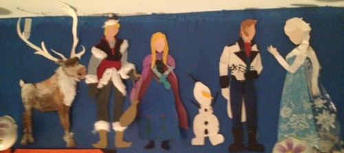 Frozen Characters Paper Art