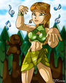 Fun earth Izzy - total-drama-island fan art