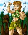 Fun earth Izzy - total-drama-island fan art