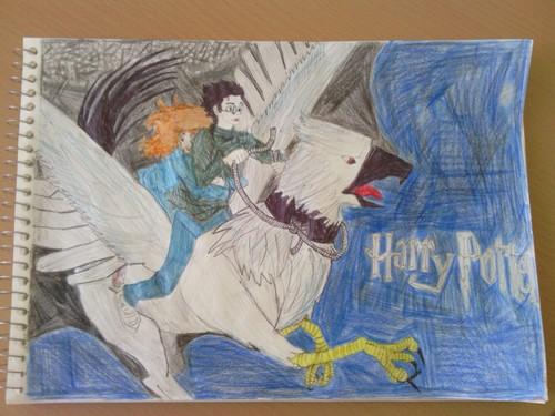 Harry, Hermione and Buckbeak