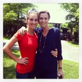 Hilarie Burton and a fan in Lafayette, LA on set for the filming of Papa Noel - one-tree-hill photo