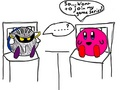 How Meta Knight came to be - kirby fan art