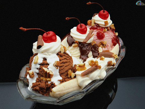 Ice Cream wallpaper containing a banana split, a split, and an ice cream sundae titled Ice-Creams