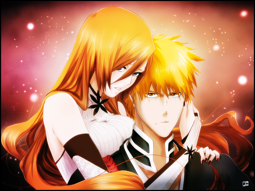 animé Bleach fond d'écran called Ichigo x Orihime