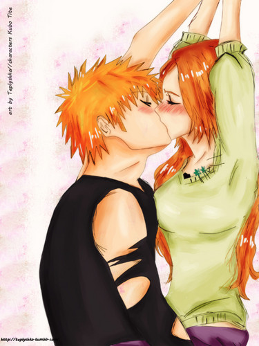 animê bleach wallpaper entitled Ichigo x Orihime