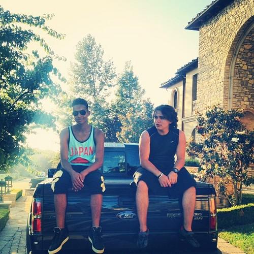 Jaafar Jackson and his cousin Prince Jackson New June 2013 ♥♥