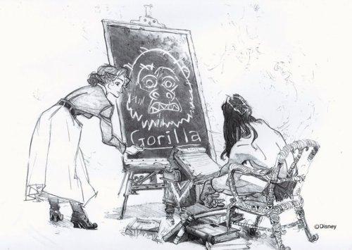 Jane Porter karatasi la kupamba ukuta entitled Jane and Tarzan Concept Art