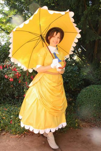 Jane Porter karatasi la kupamba ukuta with a parasol called Jane
