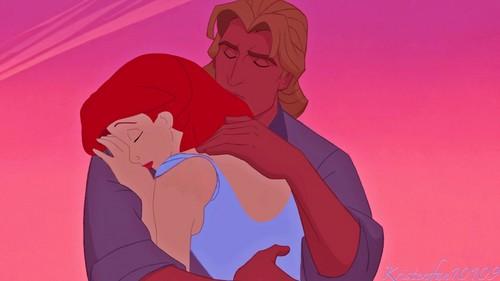 disney crossover fondo de pantalla possibly with anime entitled John & Ariel