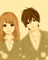 Kakeru and Naho - orange-takano-ichigo fan art