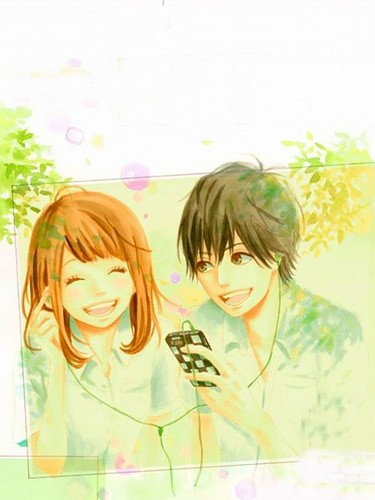 Orange (TAKANO Ichigo) wallpaper containing a portrait called Kakeru and Naho
