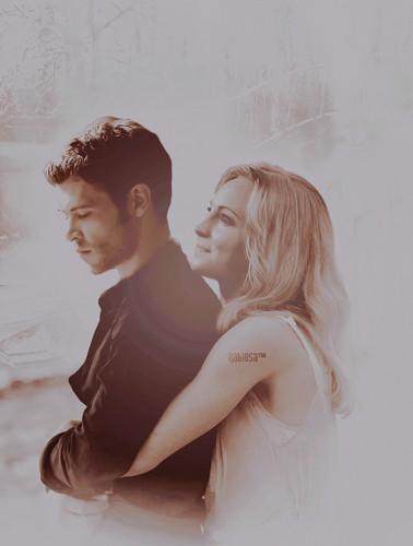 Klaus & Caroline fond d'écran with a portrait called Klaus and Caroline