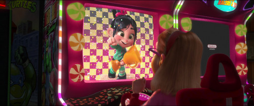 Vanellope von Schweetz wolpeyper possibly containing a kainan called Last Scene of Vanellope