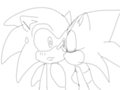 Lill Kiss Sonic - sonic-the-hedgehog fan art