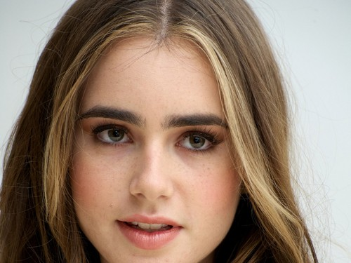 Lily Collins wallpaper containing a portrait titled Lily Collins wallpaper
