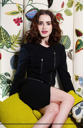 "Lily Collins wallpaper containing a hip boot entitled Lily for ""The Times"" UK [July 2013]"