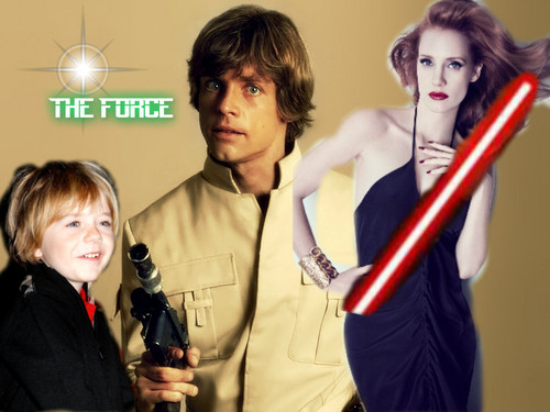 Luke, Mara and Ben Skywalker