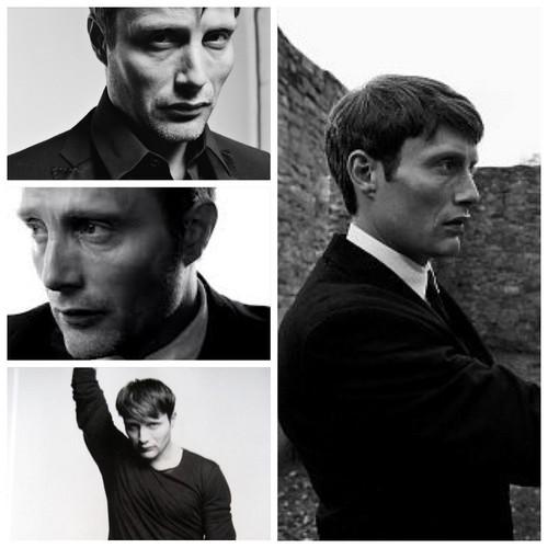 Mads Mikkelsen black/white
