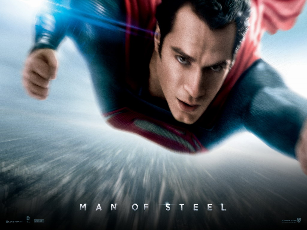 Superman's hazy theatrical poster