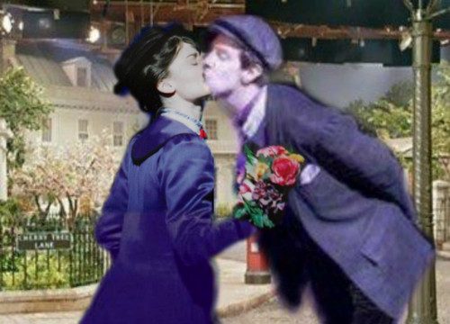 Mary Poppins and Bert Alfred